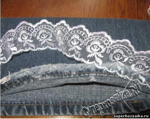 Клатч джинсовый
