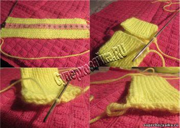 Повязка с бантом для девочки - вязание спицами