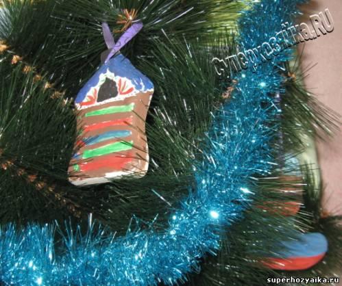 Новогодние игрушки из гипса