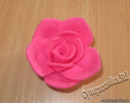 Как делать розу
