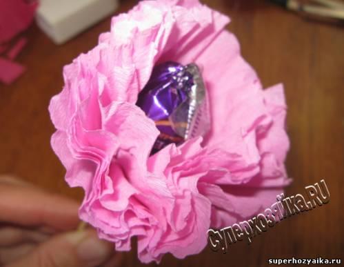 Конфетный цветок