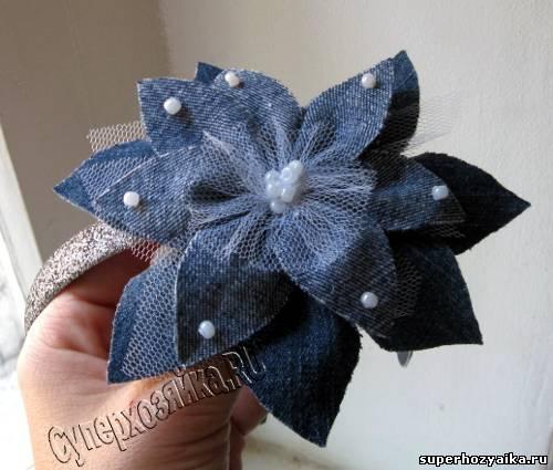 Как сделать цветок из плотной ткани своими руками