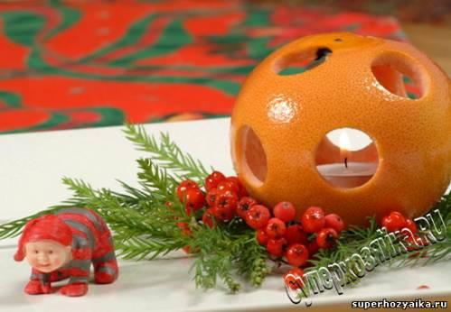 Салат, апельсиновые поделки