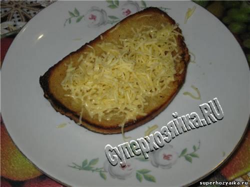 Гренки с сыром - это быстро и вкусно