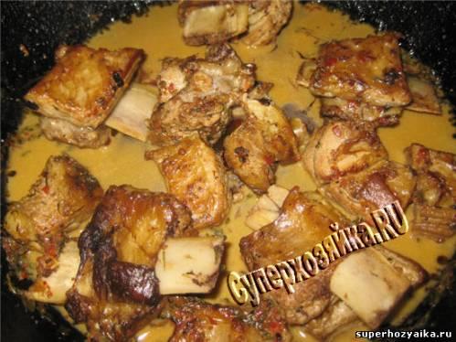 Мясо с овощами в горшочке в духовке