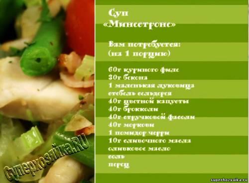 Суп Минестроне. Суп с овощами