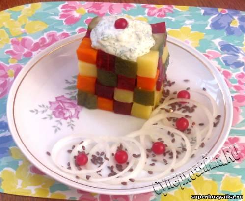 День рождения, салат для детей