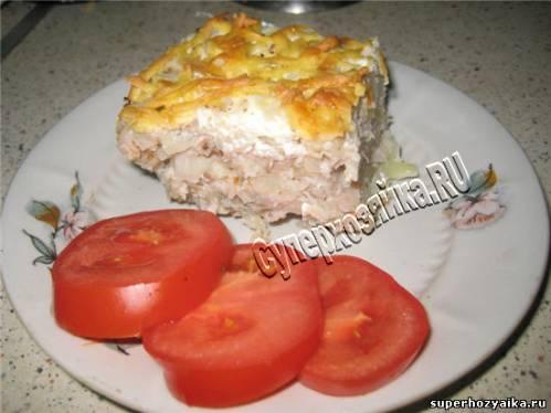 Рецепт мясной запеканки с цветной капустой