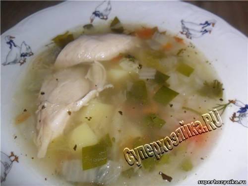 Суп из куриных грудок рецепт
