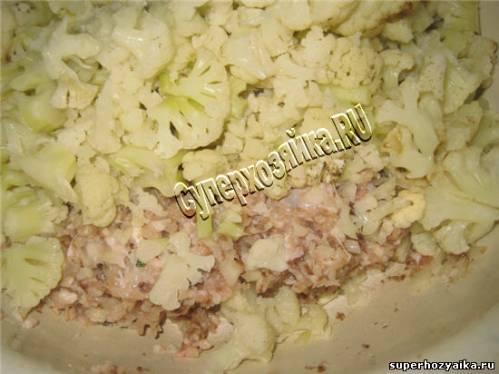 Рецепт запеканки с мясом и цветной капустой