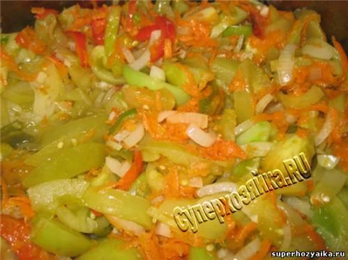 Рецепт салата из зеленых помидоров
