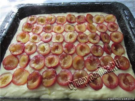 Пирог со сливами рецепт приготовления