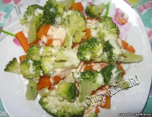 Праздничный салат с овощами