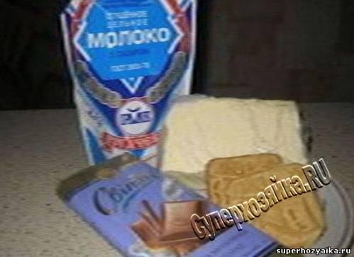 Десерт из печенья со сгущенным молоком