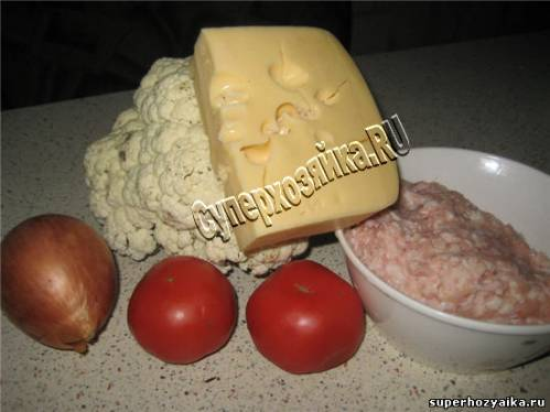 Запеканка с мясом и цветной капустой