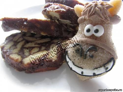 Рецепт шоколадной колбаски с фото