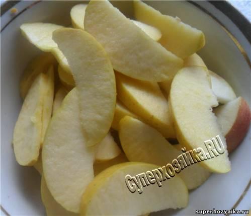 пирог с яблоками рецепт с кефиром в мультиварке