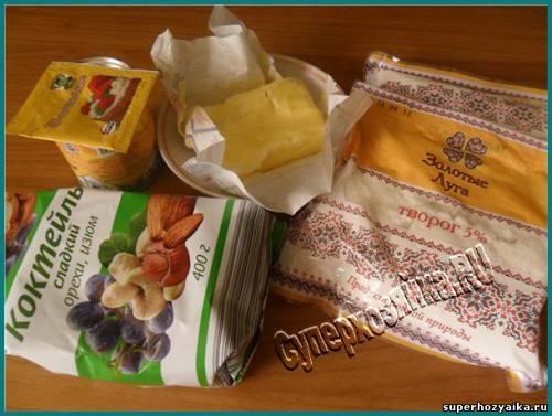 Ингредиенты для пасхи