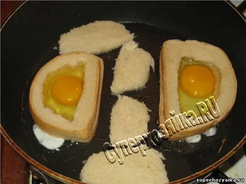 Яйцо в хлебе быстро и вкусно