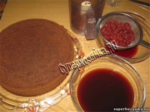 Торт с вишней. Рецепт с фото