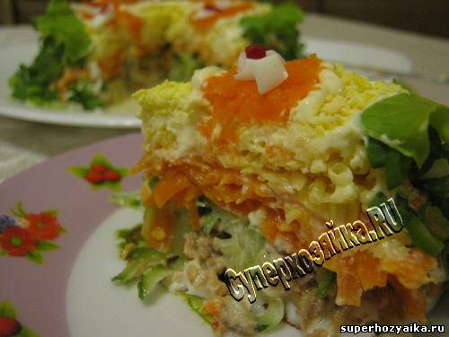 салат лошадка рецепт с фото