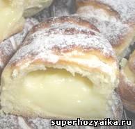 Булочки с кремом. Рецепт французской булочки