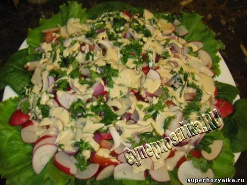 салаты из редиски с яйцом рецепты с фото