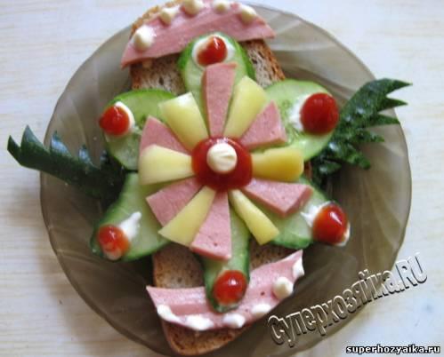 День рождения, бутерброды