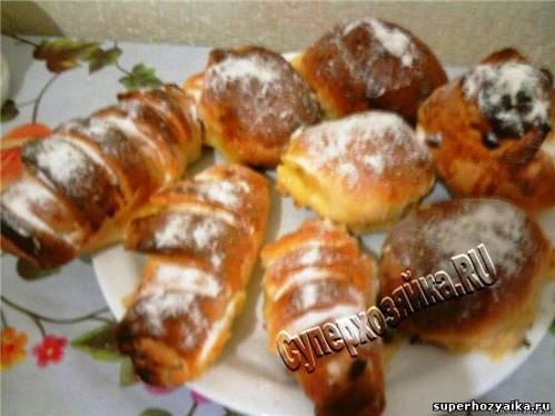 Булочки с кремом. Французские булочки