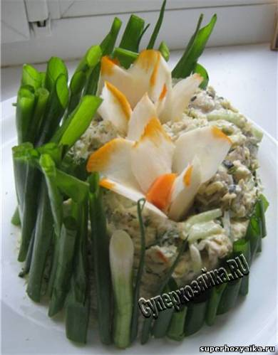 Салат букет Нарцисс - рецепт