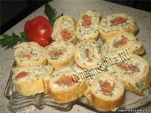 Рецепты закусочных рулетов