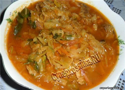 Тушеная капуста - рецепт с фото