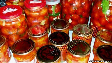 Консевация - помидоры и закусочный перец