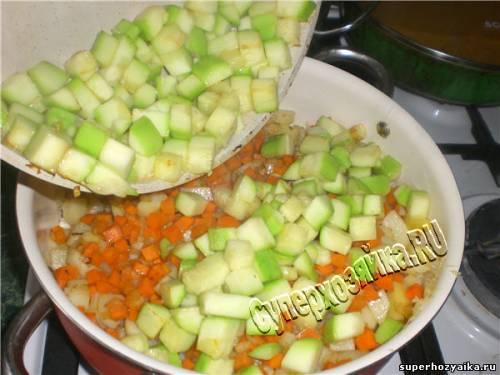 Соте из кабачков - овощей