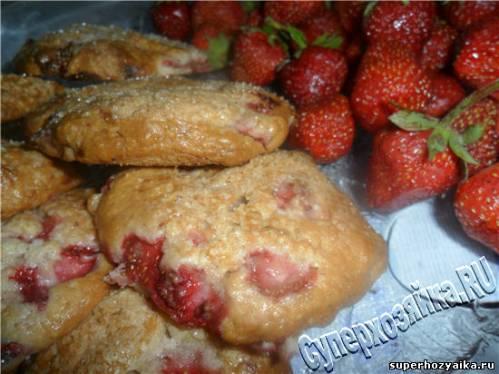 Печенье с клубникой. Рецепт с фото