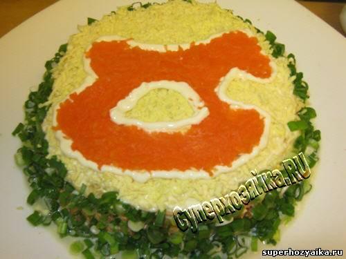 Украшение салатов с фото