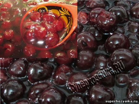 Варенье из вишни стаканами