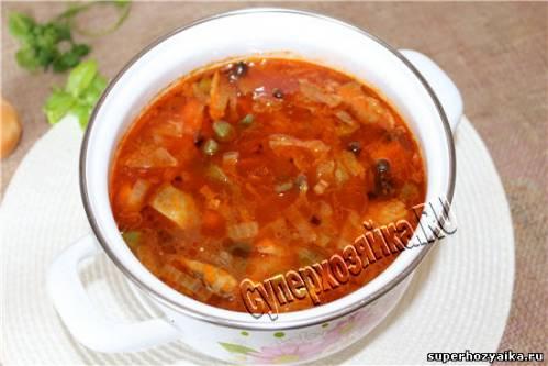 Солянка грибная - суп