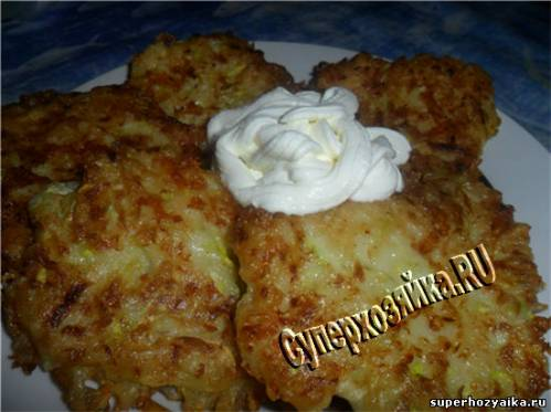 Оладьи из кабачков с сыром. Рецепт с фото