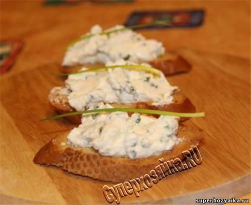 Закуска из сыра Крутоны с козьим сыром