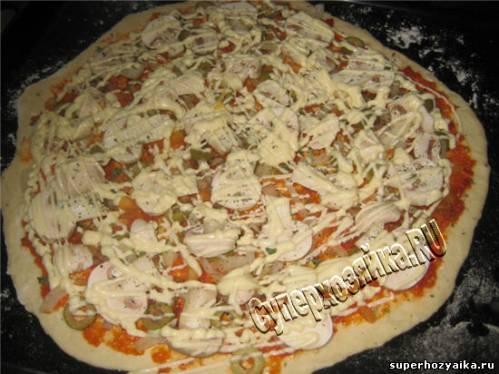 Пицца с грибами рецепт в домашних условиях