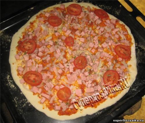 пицца с колбассой рецепт