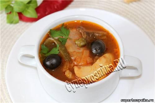 солянка грибная с капустой рецепт приготовления суп