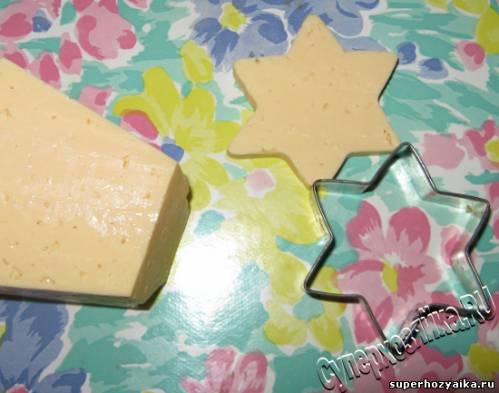 Салат звезда из сыра