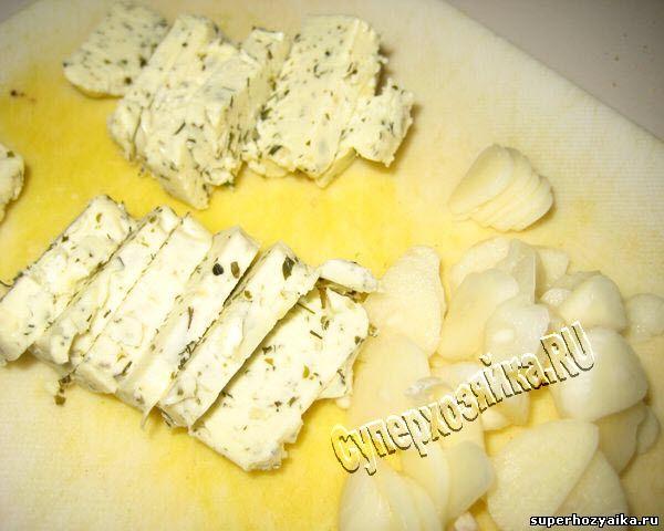 Картофель с чесноком и маслом