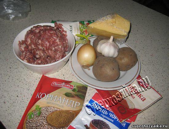 Ингредиенты для картофельной запеканки