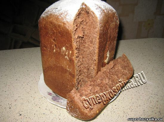 Шоколадная паска в хле