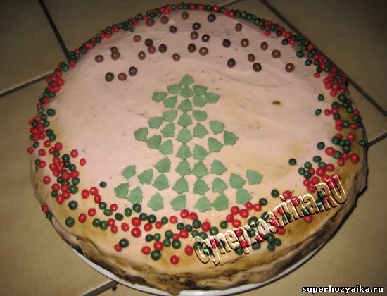 Рецепт новогоднего торта