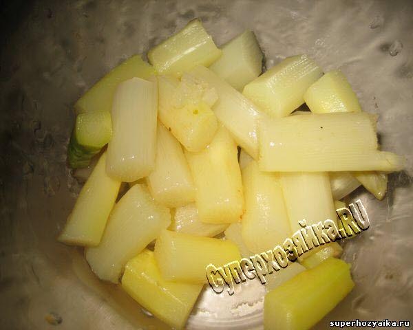 Салат из белой спаржи