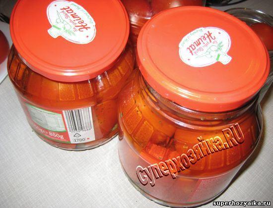 Рецепт консервированных помидор